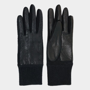 Sheep Skin Stitches Accent Leather Gloves